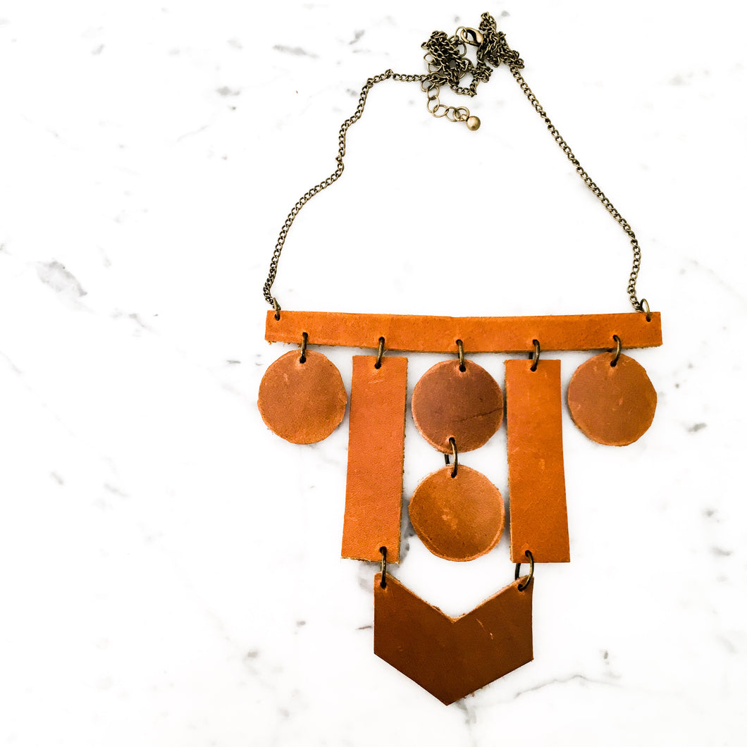 Elements Leather Statement Necklace