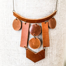 Load image into Gallery viewer, Elements Leather Statement Necklace