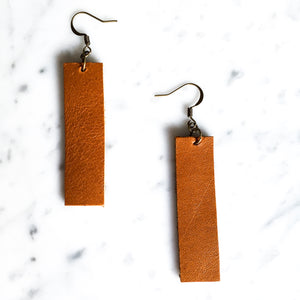 Skyline Leather Earring