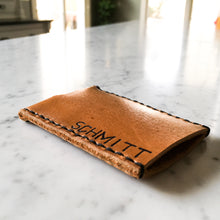 Load image into Gallery viewer, Customizable Leather Business Card Holder