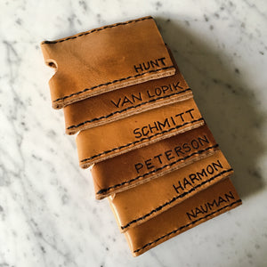 Customizable Leather Business Card Holder