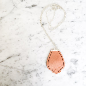 Athena Leather Pendant Necklace
