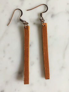Matchstick Leather Earring