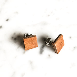 Union Square Leather Post Earring