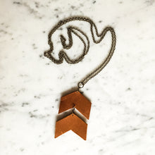 Load image into Gallery viewer, Chevron Leather Pendant Necklace