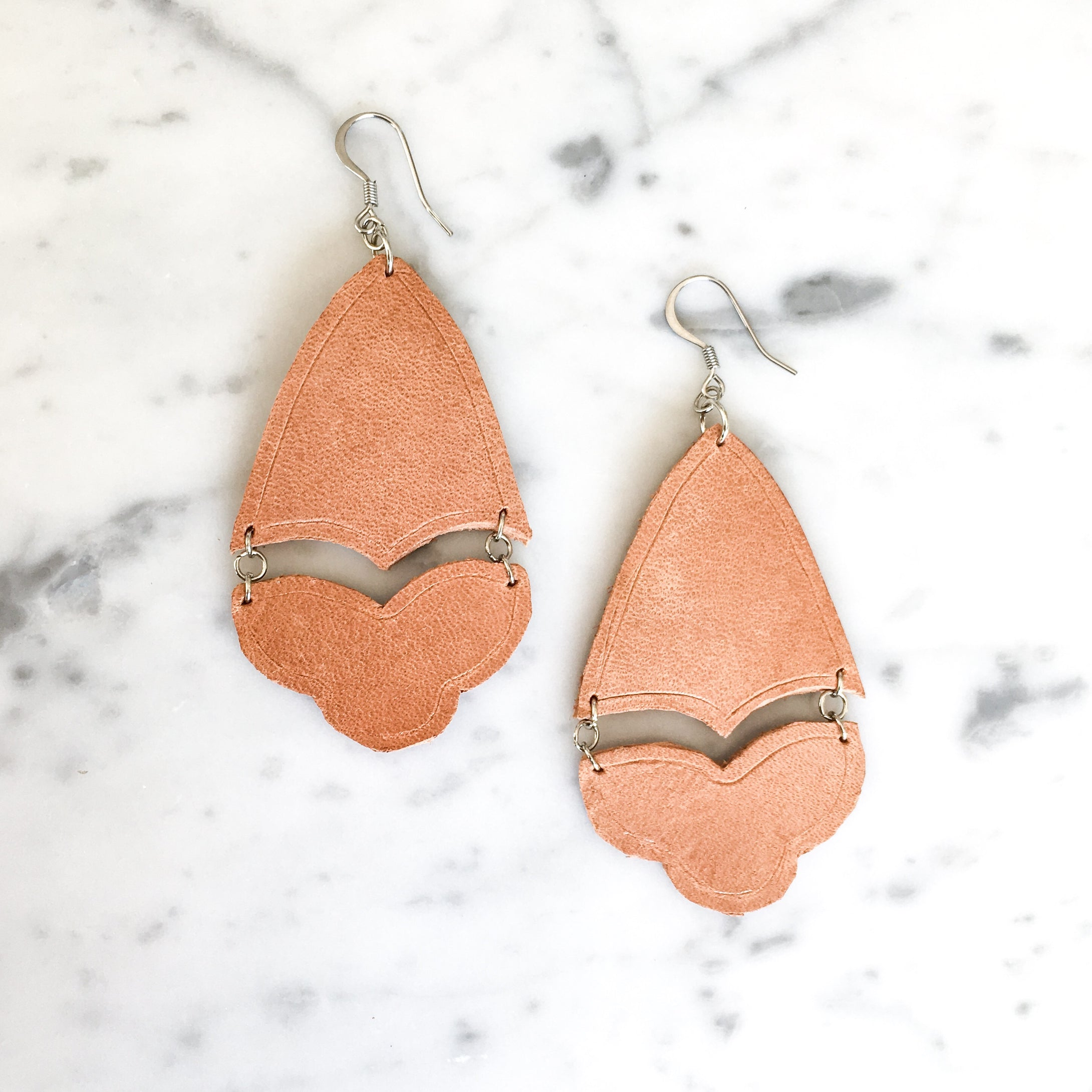 Athena Leather Earring