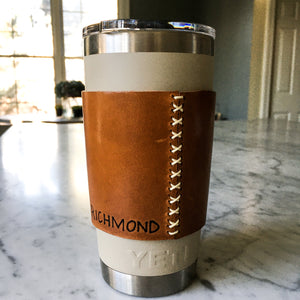 Customizable Leather YETI 20oz Rambler Sleeve