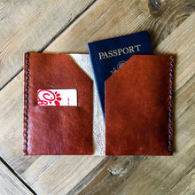 Load image into Gallery viewer, Customizable Leather Passport Cover