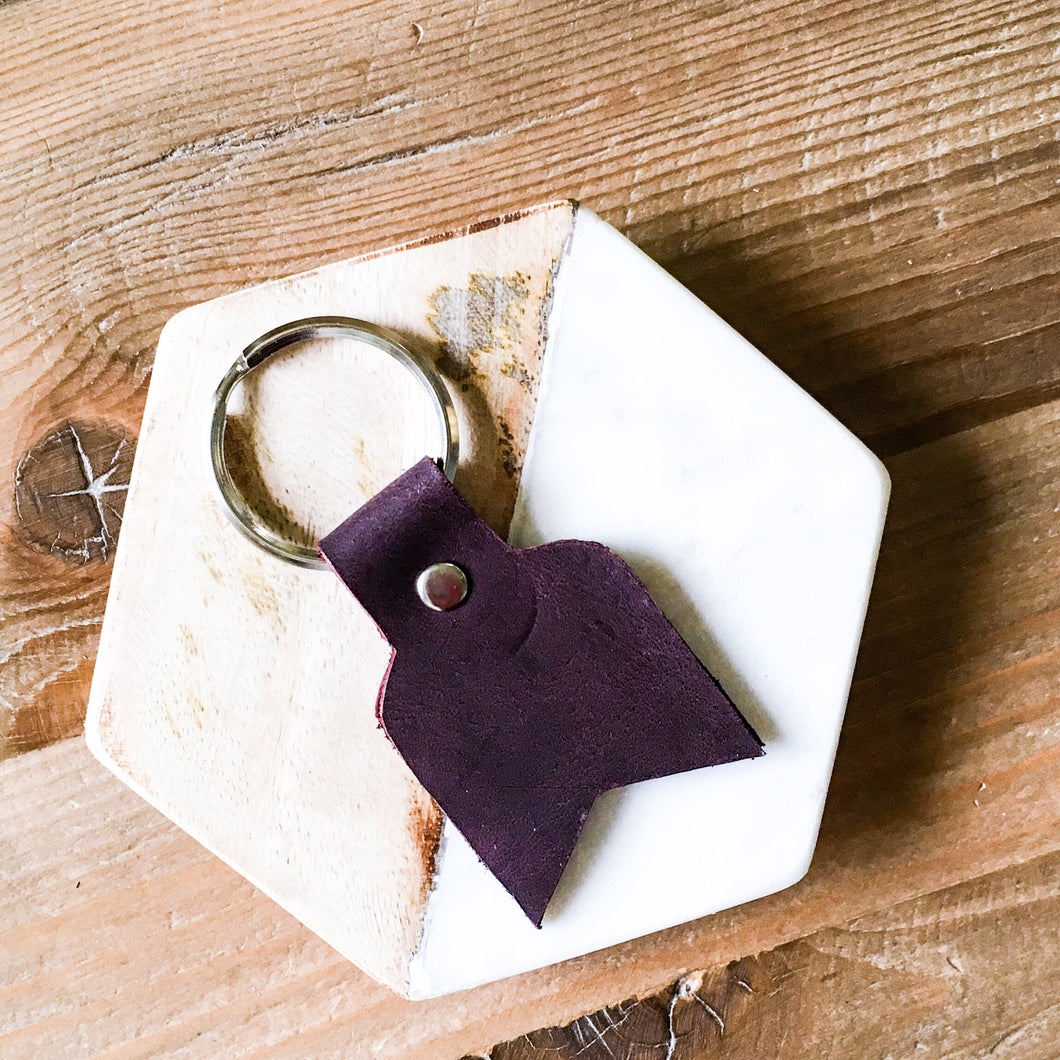 Canyon Leather Keychain