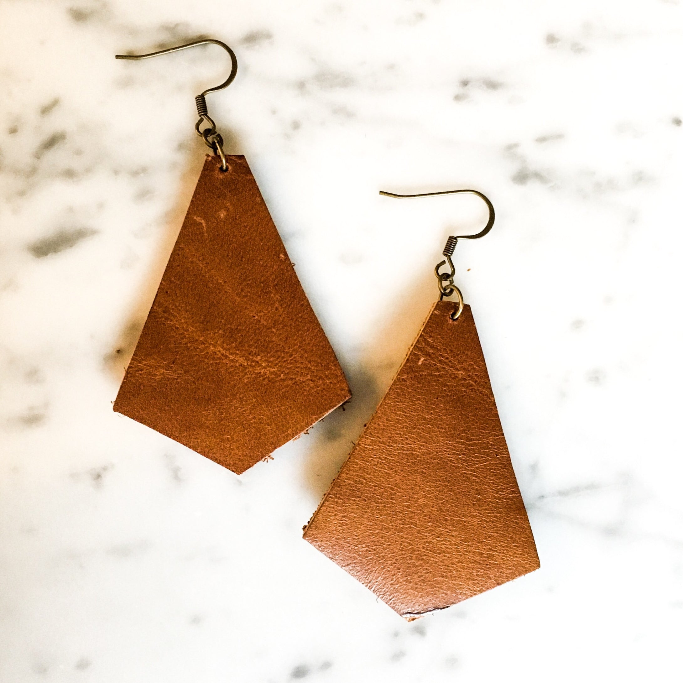 Prism Leather Earring