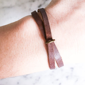 Marion Leather Twist Bracelet