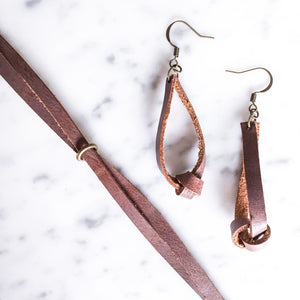 Estelle Leather Earring