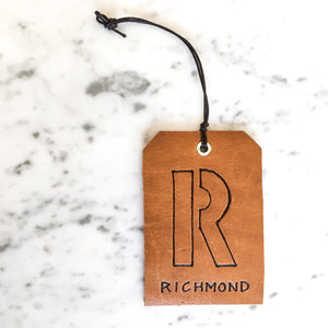 Customizable Leather Luggage Tag