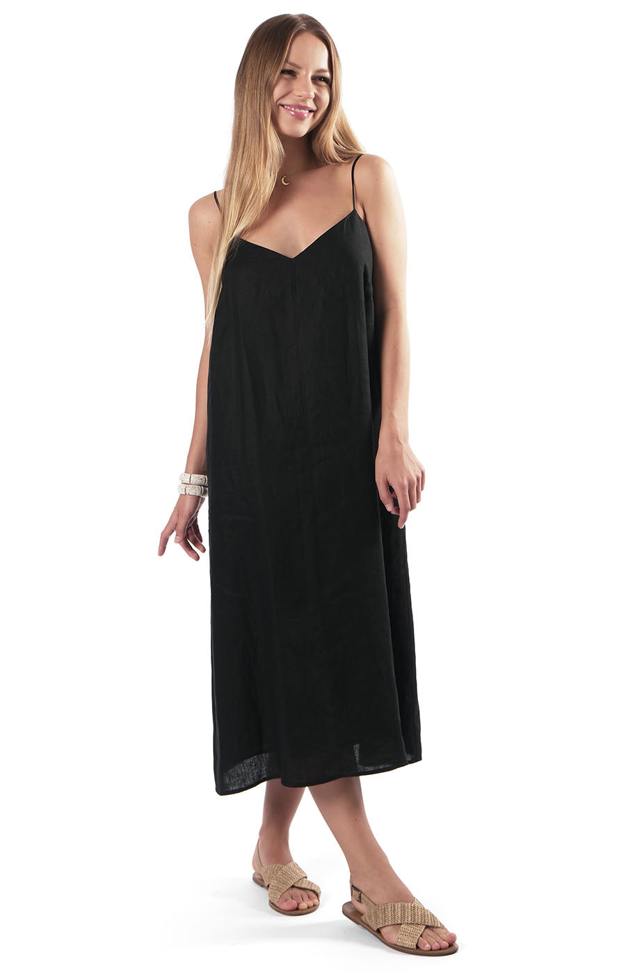 Yuki Slip Dress Black