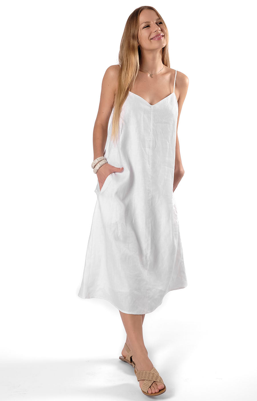 Yuki Slip Dress White