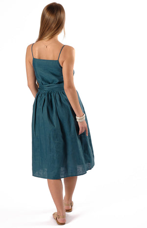 Emery Midi Dress Teal