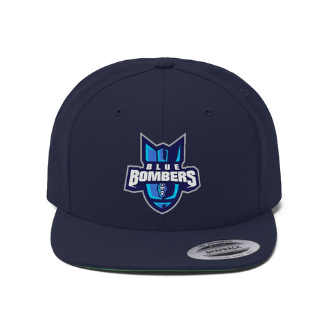 Indiana Blue Bombers Unisex Flat Bill Hat