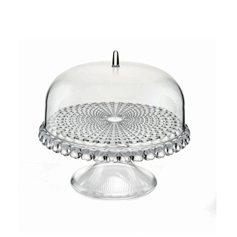 Acrylic cake stand with dome clear