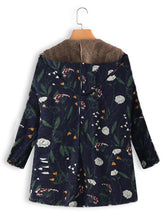 Load image into Gallery viewer, Vintage Floral Print Hooded Coats