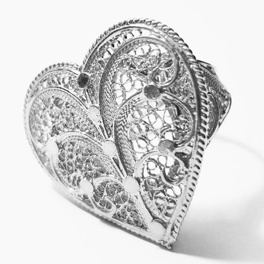Filigree Heart Ring