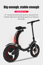 Load image into Gallery viewer, SHI PAO Foldable Electric Bicycle, 350W Brushless Motor 36V 6AH Lithium Battery Smart E-Bike with HD Indicator Panel, IP67 Waterproof and App Aplication