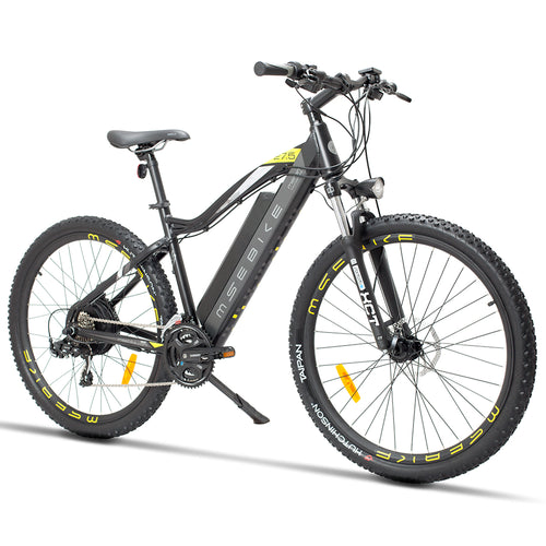 SHI PAO Electric Mountain Bike with 48V 400W Motor, 27.5inch Big Tires, E-bike Citybike Commuter Bike with 48V 13Ah Removable Lithium Battery, Shimano 21 Speed Gear, Five-speed Shift for Men Women Adults