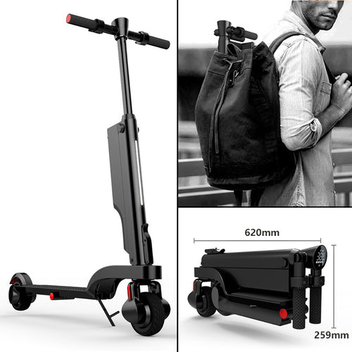 SHI PAO Electric Scooter, Foldable & Portable & Lightweight 250W 25KM/H Electronic Kick Scooter Vehicle with Removable Lithium Battery USB Charger Bluetooth Speaker LCD Display for Adult, Children