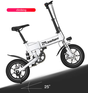 SHI PAO Mini Foldable Electric Bicycle Scooter, with 14'' Tires 250W Brushless Motor 36V 7.8AH Lithium Battery LED Display For Adults Women Children