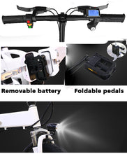 Load image into Gallery viewer, SHI PAO Mini Foldable Electric Bicycle Scooter, with 14'' Tires 250W Brushless Motor 36V 7.8AH Lithium Battery LED Display For Adults Women Children