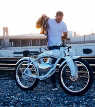 Load image into Gallery viewer, Munro 2.0 Electric Motorcycle 2 Wheels Retro Style E-bike City Cruiser Motorbike, High-tech White