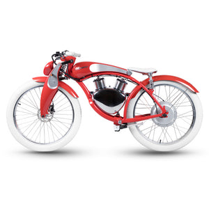 Munro 2.0 Electric Motorcycle 2 Wheels Retro Style E-bike City Cruiser Motorbike, Windsor Red