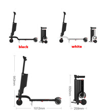 Load image into Gallery viewer, SHI PAO Electric Scooter, Foldable & Portable & Lightweight 250W 25KM/H Electronic Kick Scooter Vehicle with Removable Lithium Battery USB Charger Bluetooth Speaker LCD Display for Adult, Children
