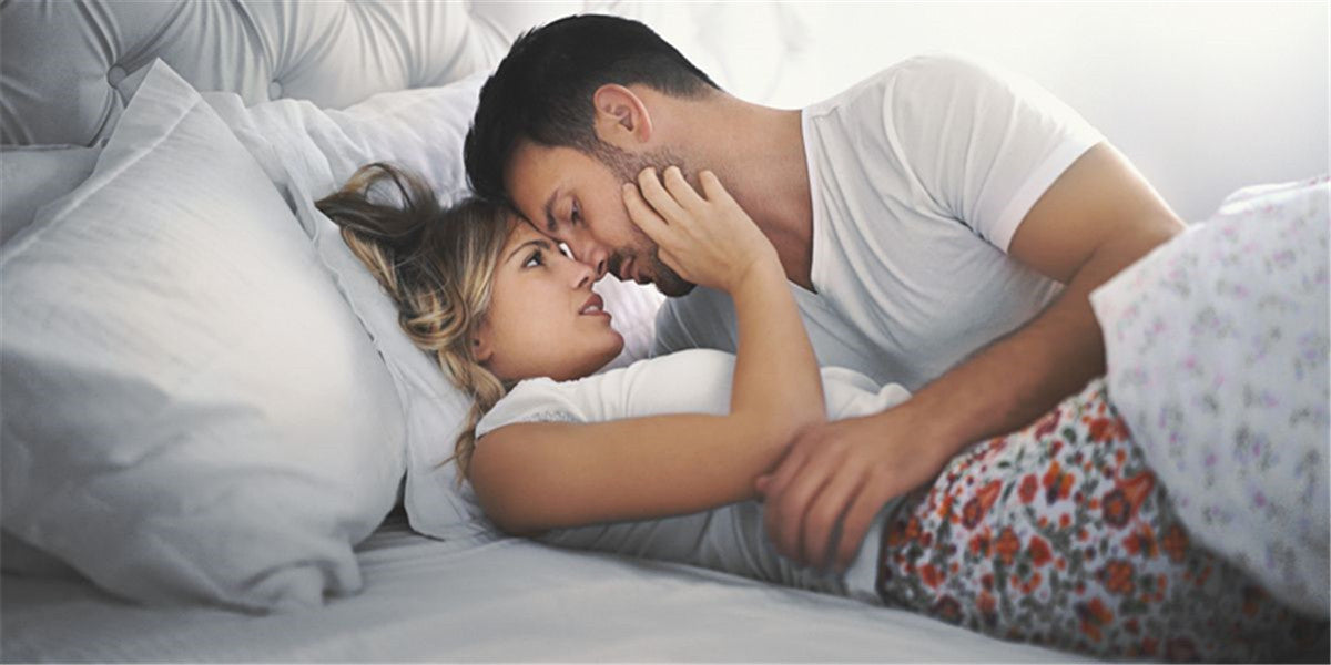sex with your partner in bedroom on the bed