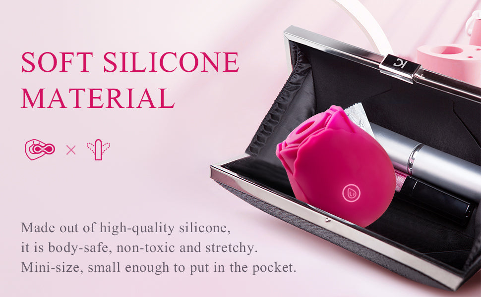 Sohimi rose vibrator is made of stretchy silicone