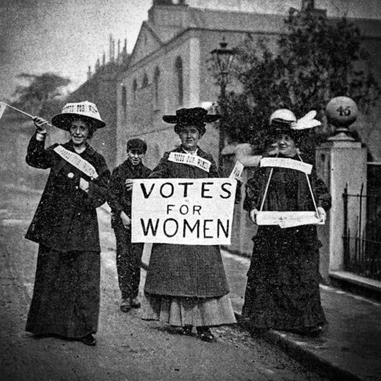 Suffragette Black and White Demonstration