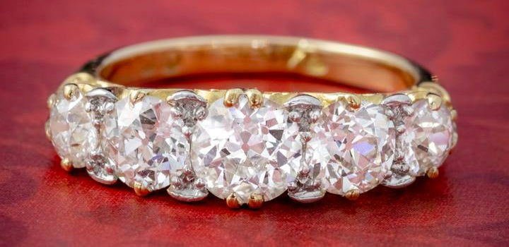 Antique Victorian Diamond Five Stone Ring
