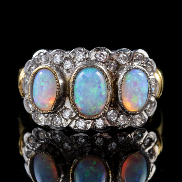 OPAL PASTE RING 18CT GOLD SILVER