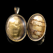 ANTIQUE VICTORIAN BUCKLE FORGET ME NOT LOCKET 9CT GOLD CIRCA 1900