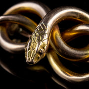 ANTIQUE VICTORIAN SNAKE BROOCH 15CT GOLD CIRCA 1880