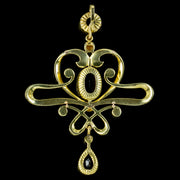 Antique Edwardian Suffragette Pendant 15ct Gold Circa 1910