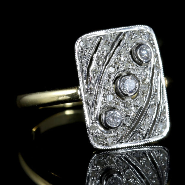 ANTIQUE ART DECO DIAMOND RING 18CT GOLD RING CIRCA 1920