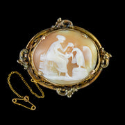 ANTIQUE VICTORIAN CAMEO BROOCH CIRCA 1860
