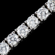 DIAMOND TENNIS BRACELET 7CT OF DIAMOND 18CT WHITE GOLD