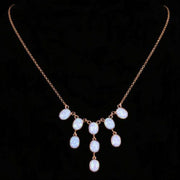 OPAL DROP NECKLACE 9CT ROSE GOLD