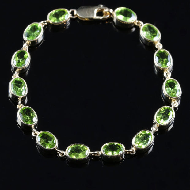 PERIDOT BRACELET 14CT PERIDOT 9CT YELLOW GOLD
