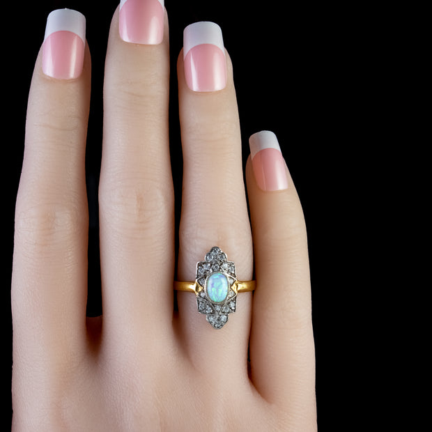 Gold and silver paste stone ring