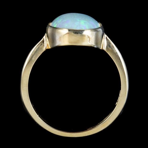 OPAL RING 9CT YELLOW GOLD 5.50CT OPAL