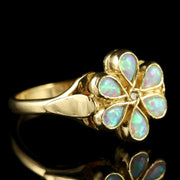 OPAL DIAMOND CLUSTER RING 9CT GOLD
