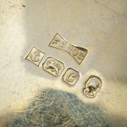 VINTAGE ENGRAVED LOCKET 18CT GOLD ON SILVER DATED 1977 SILVER JUBILEE