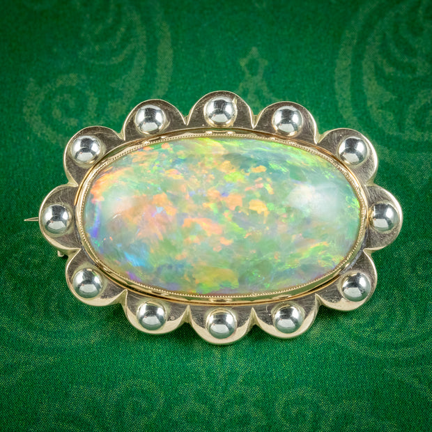 Vintage Natural Opal Brooch 15ct Opal Circa 1930 Boxed